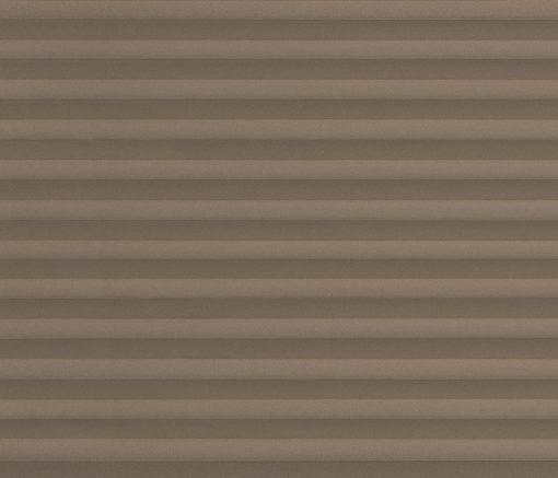 Plisségardin Brun – Semitransparent